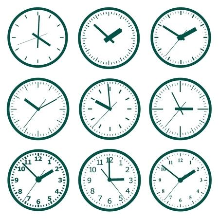 Clock icon. World time concept. Business background. Internet marketing. Daily infographic Vector Illustratie