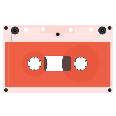Retro audio cassette, isolated media illustration. A set of outdated audio cassettes. Vector illustration.