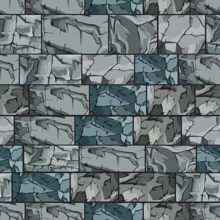 Background made up of stone blocks. Seamless vector illustration.