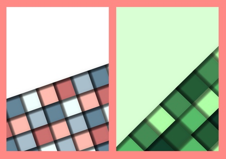 Stylish geometric vintage label in abstract style. Abstract geometric frame, vector illustration. Art Deco.  イラスト・ベクター素材