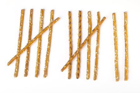tally: Tally sheet Check list made with salt sticks Stock Photo