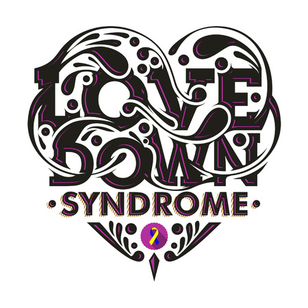 Typography illustration of Love Down Syndrome