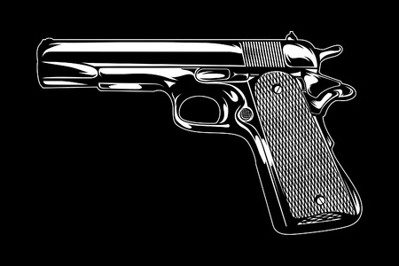 Gun Illustration. Vector Illustration