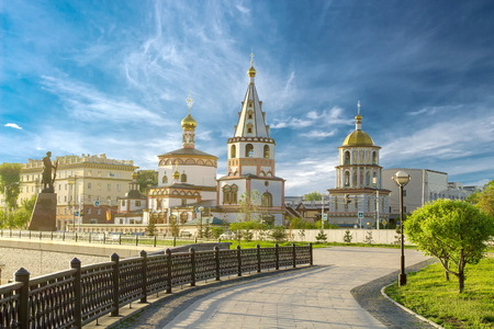 Church in the city of Irkutsk Banco de Imagens