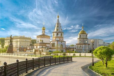 Iglesia en la ciudad de Irkutsk