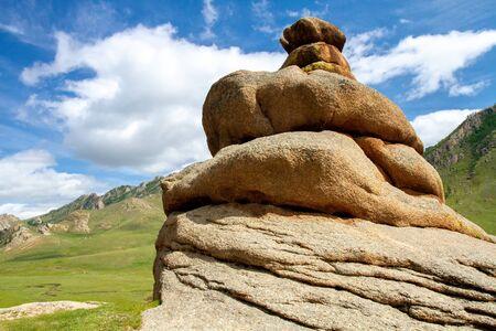 Gorkhi-Terelj National Park at Ulaanbaatar, summer day. Mongolia. Stock fotó