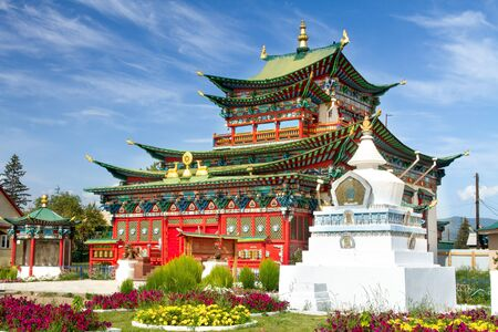 Ivolginsky datsan monastery is the Buddhist Temple located near Ulan-Ude city in Buryatia, Russia.