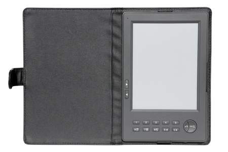 e-book reader device, close up, isolated photo