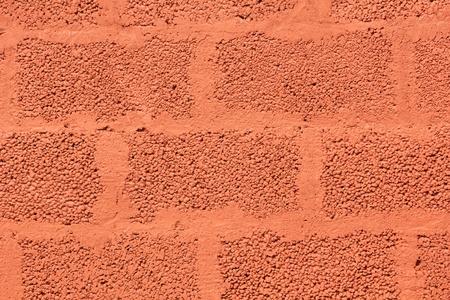 부주의 한: 빨간색 부주의 가스 콘크리트 블록 벽돌 벽 스톡 사진