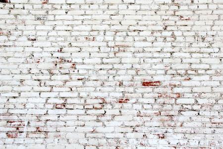 muro: Vecchio muro di mattoni con mattoni bianchi e rossi Archivio Fotografico