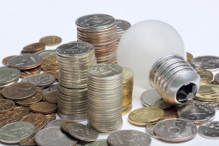 concept, symbolizing economic inefficiency of glow lamp photo