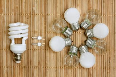 risparmio energetico: concetto, che simboleggia l'efficienza delle lampadine a risparmio energetico Archivio Fotografico