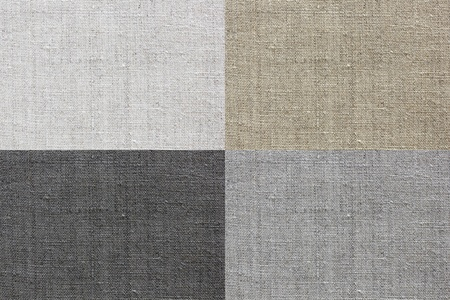 white, grey, brown and black natural linen texture for the background  photo