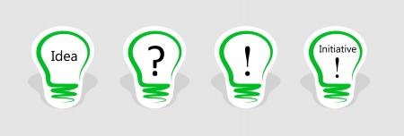 initiative: concept, symbolizing the new idea or initiative