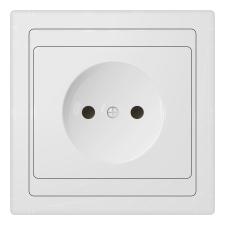 plugin: electric power receptacle over white