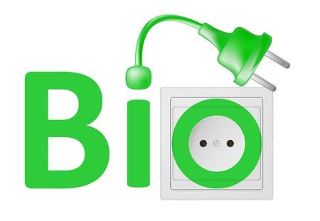 plugin: ecological concept, symbolizing renewable energy, bio energy