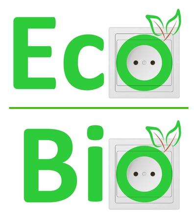 ecological concept, symbolizing renewable energy, bio energy Vector