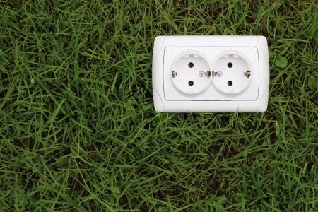 outdoor electricity: ecological concept, symbolizing renewable energy, bio energy