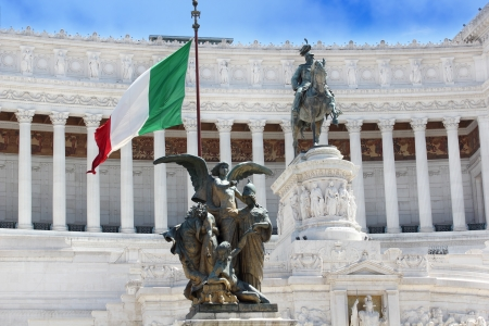 Monument Vitto Emanuele II or Altar of the Fatherland in Roma, Italia. Stock Photo - 14480548