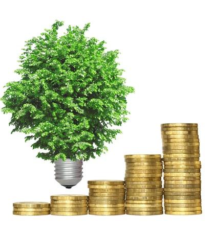 effizient: Konzept, als Symbol f�r die Wirtschaftlichkeit von Umwelttechnologien