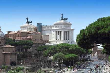 vittorio emanuele: Monument Vittorio Emanuele in Roma, Italia. Stock Photo