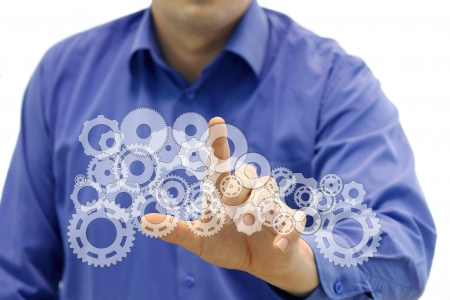 Concept symbolizing an technology, engineering and innovatoin Stock Photo - 16206574