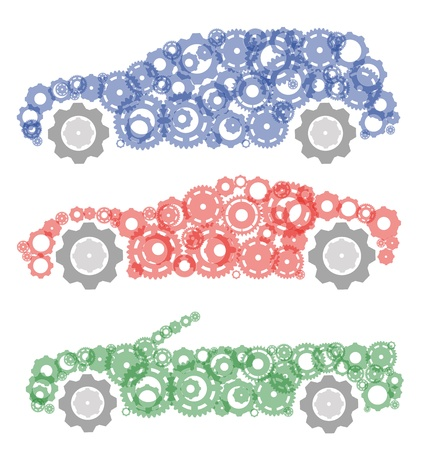 concept, symbolizing the car as a mechanism Vector