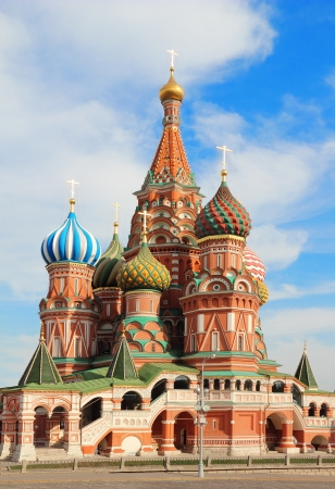 sights: St Basils cathedral on Red Square in Moscow Russia