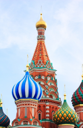 dome of the St Basils cathedral on Red Square in Moscow Stock Photo - 17896016