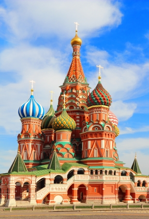 St Basils cathedral on Red Square in Moscow Russia Stock Photo - 18377602