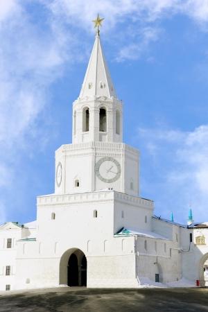 spassky: Spasskaya (Saviour) Tower of Kazan Kremlin, tatarstan, Russia