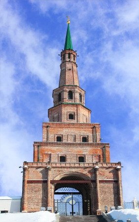 The Soyembika tower in the Kazan Kremlin - famous falling tower photo