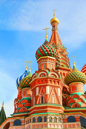 St Basils cathedral and Monument to Minin and Pozharsky on Red Square in Moscow Russia photo