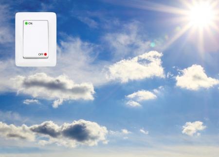 concept symbolizing the solar energy photo