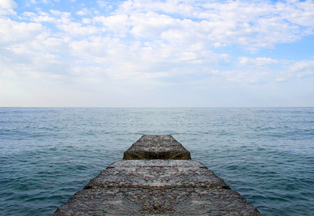 markermeer: Dreaming on a empty concrete pier