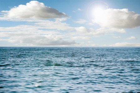 indian ocean: perfect sky and water of ocean Stock Photo