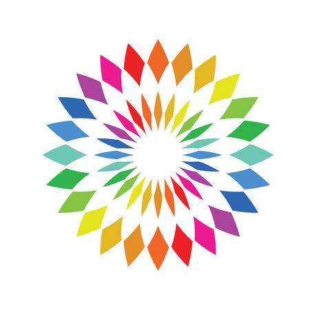 Color wheel palette - round spectrum swatch  イラスト・ベクター素材