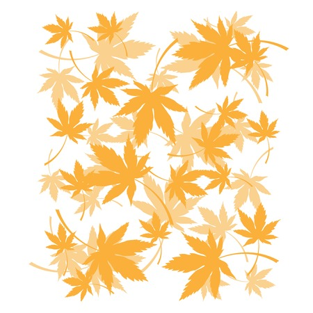 Background with dead autumn leaves, orange foliage