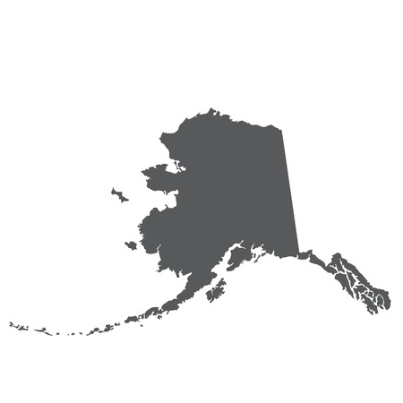 Alaska map silhouette - outline of state