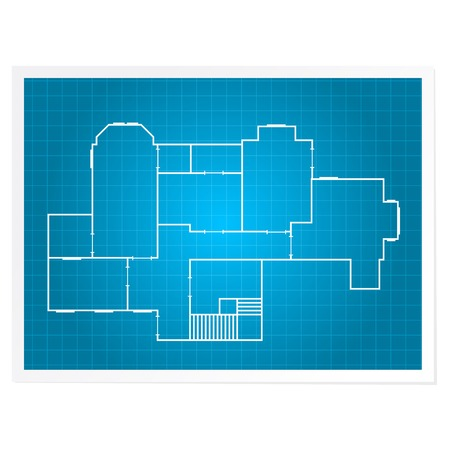 Architectural background - blueprint plan of a layout of building