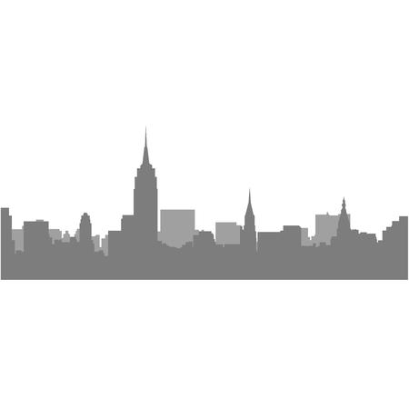 New York City Skyline - megalopolis cityscape Illustration