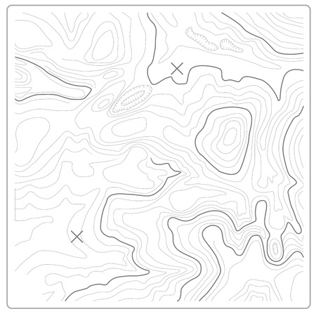 Topographic map of relief and land heights