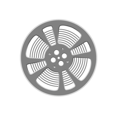 Cinema film reel - retro style cinematography symbol  Çizim