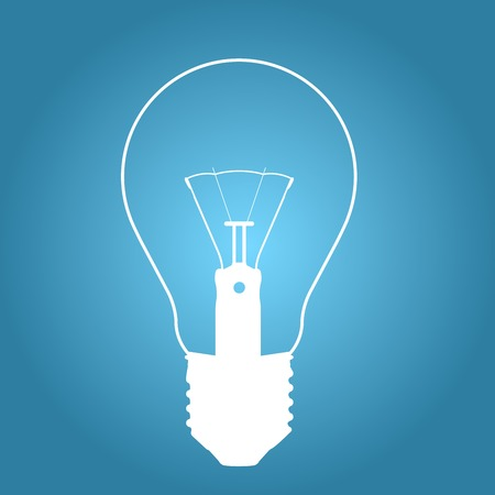 Silhouette of old light bulb - glow lamp