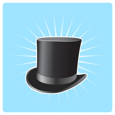 Illusionist's top hat - poster with vintage capitalist hat Stock Vector - 102940538