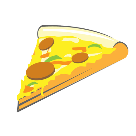 Pizza slice - piece of italian food