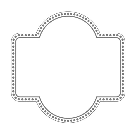 Simple retro frame with dotted and line border