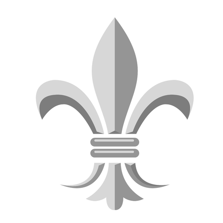Fleur de lis - heraldic symbol of french royal monarchy 일러스트