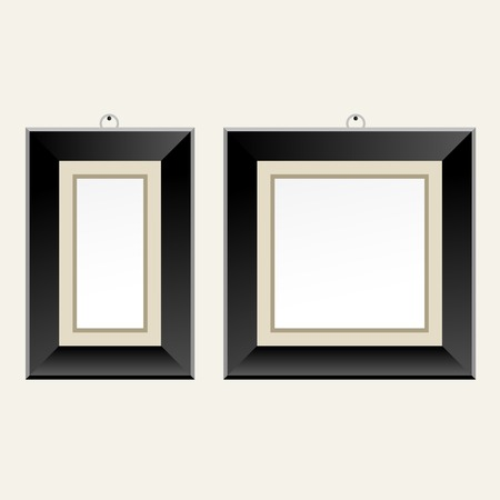 Black picture frame for art gallery or exhibition - classic image frame
