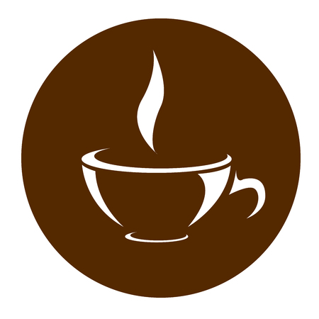 Icon of cup of tea or coffee - cafe symbol